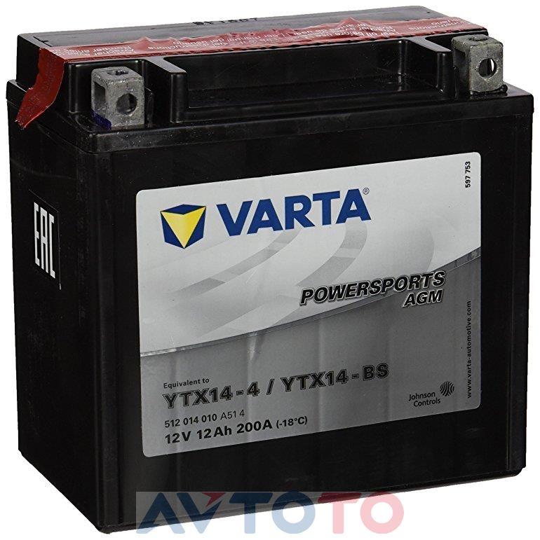 Аккумулятор Varta 512014010