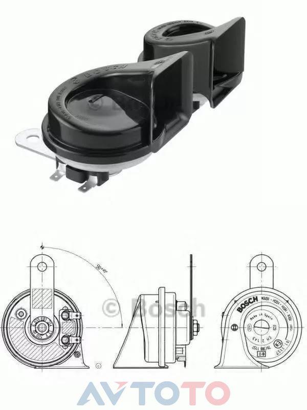 Сигнал звуковой Bosch 6033FB1214