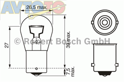 Лампа Bosch 1987302610