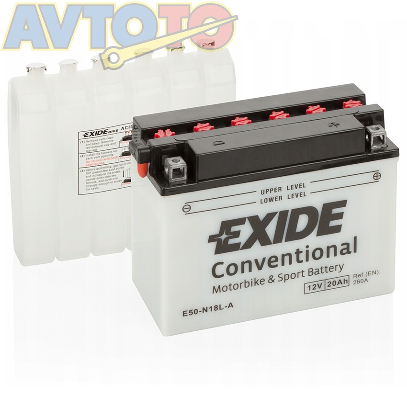 Аккумулятор Exide E50N18LA
