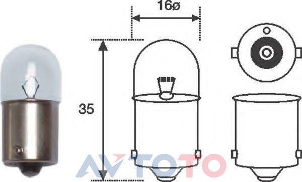 Лампа Magneti marelli R5W24