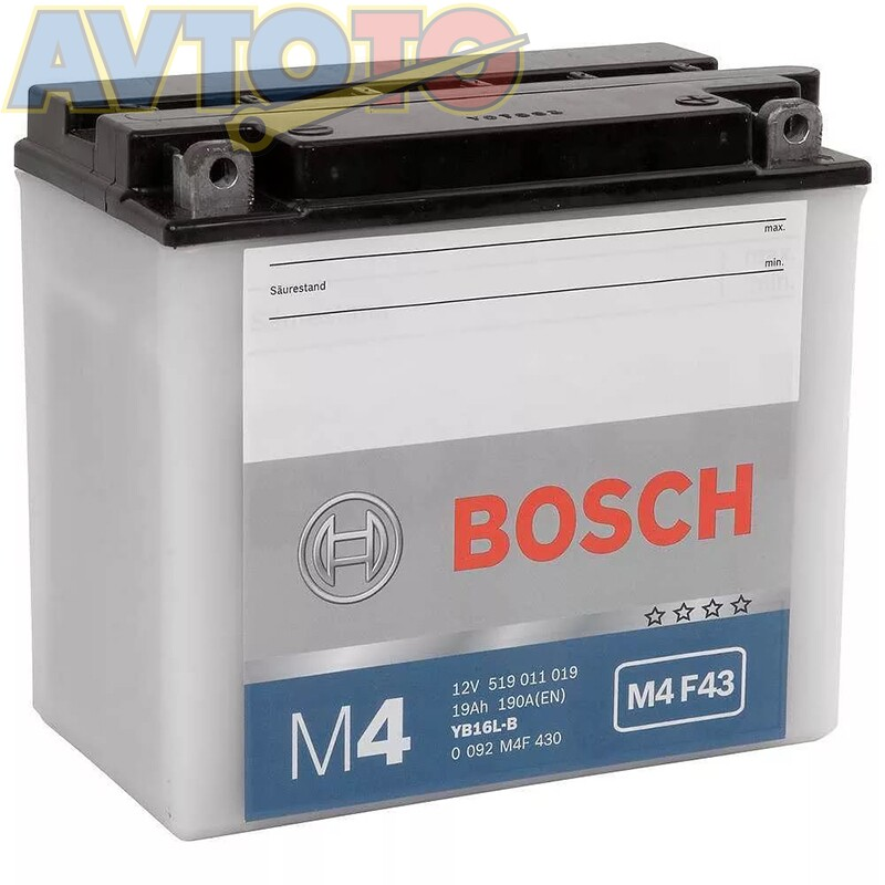 Аккумулятор Bosch 0092M4F430