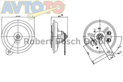Сигнал звуковой Bosch 0320146109