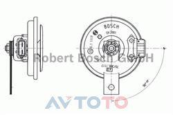 Сигнал звуковой Bosch 9320332027
