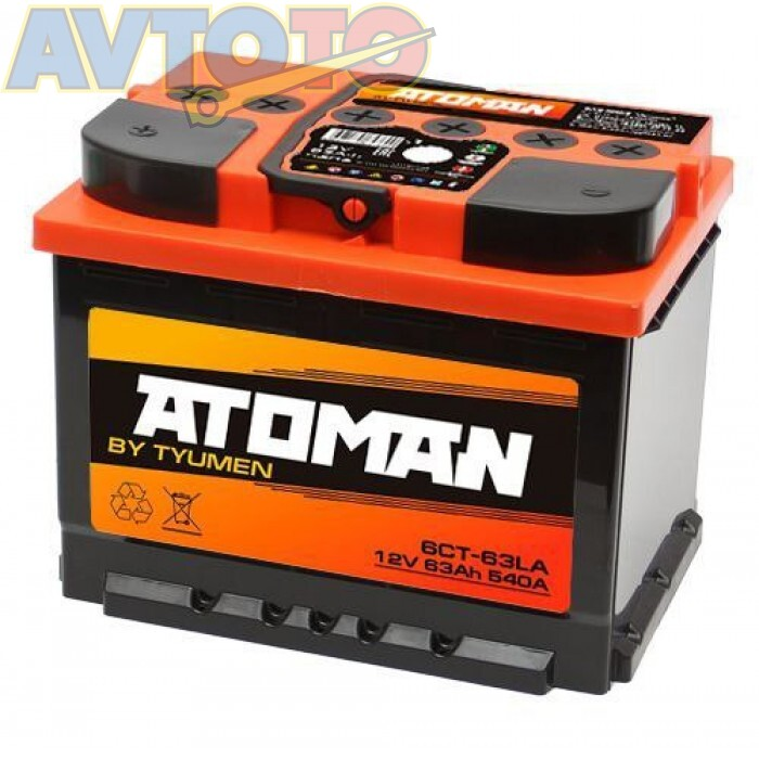 Аккумулятор ATOMAN AT6CT631LA