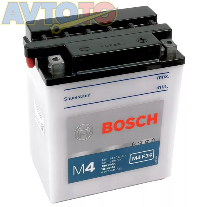 Аккумулятор Bosch 0092M4F340