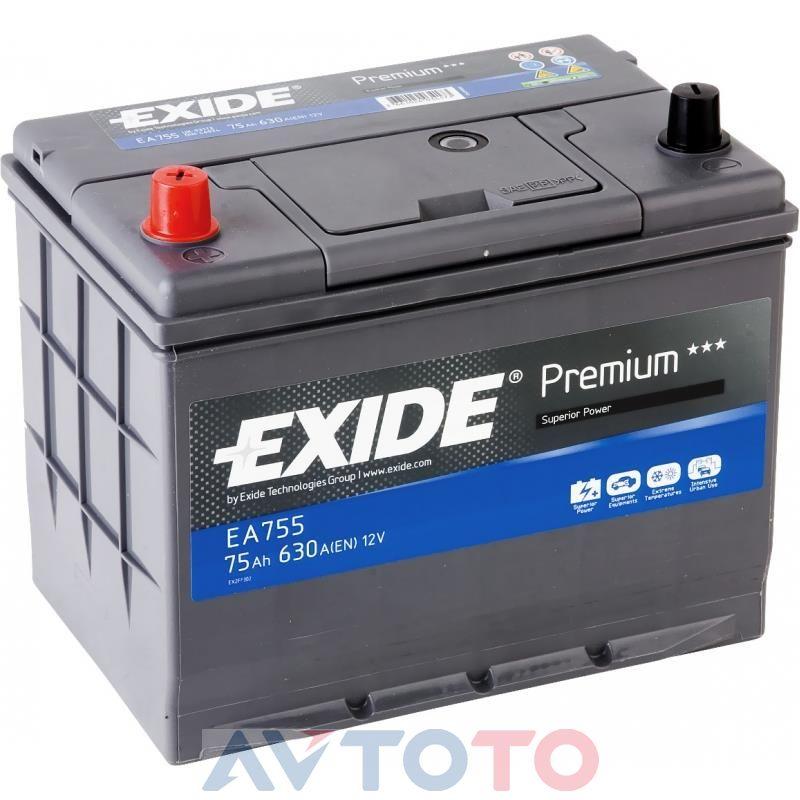 Аккумулятор Exide EA755