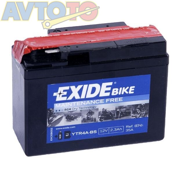 Аккумулятор Exide YTR4ABS