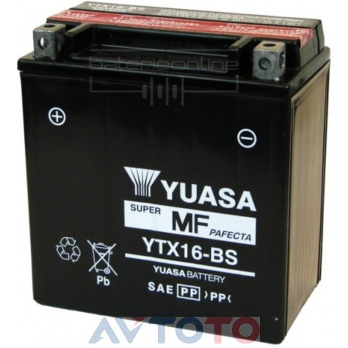 Аккумулятор Yuasa YTX16BS