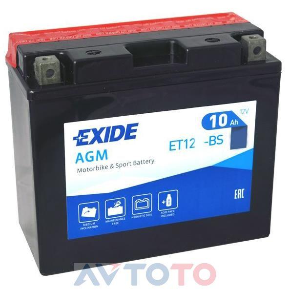 Аккумулятор Exide ET12BS