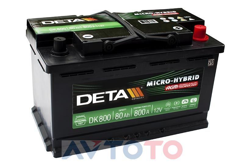Аккумулятор Deta DK800