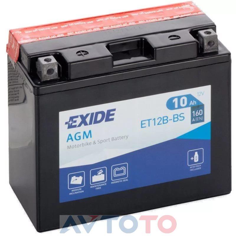 Аккумулятор Exide ET12BBS