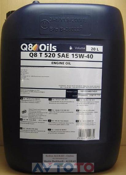 Моторное масло Q8 101155801451