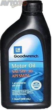 Моторное масло General Motors 12345610