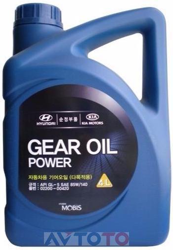 Трансмиссионное масло Hyundai/Kia 0220000420