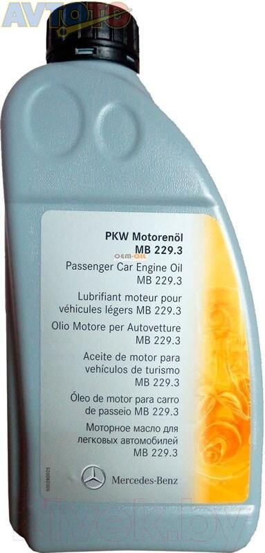 Моторное масло Mercedes Benz A0009898201